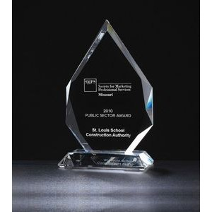 "Flame Series Multi-Faceted Optical Crystal Award (5""x7 5/8"")"